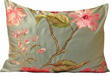 Malabar Mandara Silk Sky Blue Embroidered Designer Cushion Cover