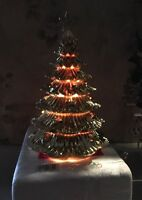 Christmas Tree Gold Lighted With Star In Original Foam Night Light