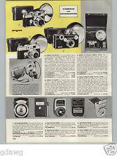 1958 PAPER AD Argus C-44 Camera Outfit 50MM C-4 35MM Cameras Kodak Ansco