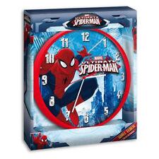 SPIDERMAN UOMO RAGNO orologio da parete in plastica rosso diametro 25 cm con ore