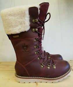 Royal Canadian Castlegar Rubeaus Leather Winter Waterproof Boots For Women