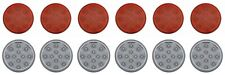 """4"""" 12 LED Reflector Stop Turn Utility Auxiliary Light 6 Red 6 White Set"""