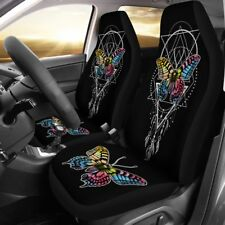 Butterfly Feather Car Seat Covers, Butterfly Lover, Set of 2 Front Seat Covers
