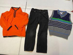 OshKosh & Kitestrings Little Boy's Lot of 3 Clothes Pants Sweater Vest Size 5T