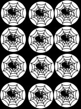 12 Precut Halloween  Spider Web Cupcake Toppers