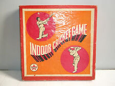 """Rare old vintage """"CALTEX"""" advertising indoor cricket game of 60's, with box..."""