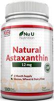 Nu U Nutrition Astaxanthin Premium Strength, 12mg  180 Softgels 6 Month Supply