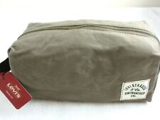 Levi Strauss Zipper Top Travel Kit Toiletry Bag Olive Green Brown NWT Free Ship