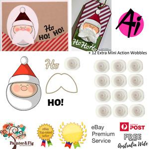 Santa Mini Shaker Stamps & Action Wobbles, Moustache Christmas - Art Impressions