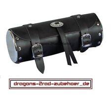Motorrad Werkzeugrolle Gepäckrolle CHOPPER mit Chromdeckel Leder toolbox leather