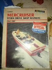Clymer Mercruiser stern drive shop manual 1964-1987   boat out board