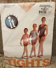 Illinois Theatrical it Adult Supplex Convertible Tights Large Ballet Pink C 451