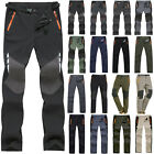 Mens Long Cargo Trousers Motorcycle Hiking Outdoor Work Pants Casual Camping