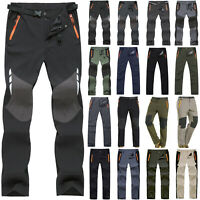 Mens Waterproof Outdoor Cargo Combat Work Pants Tactical Hiking Trousers Casual