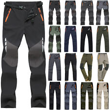 Mens Women Waterproof Cargo Trousers Rain Motorcycle Fishing Hiking Work Pants