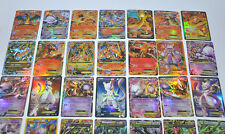 Pokemon TCG : 35 CARD LOT RARE, COM/UNC, HOLO & GUARANTEED EX, MEGA OR FULL ART