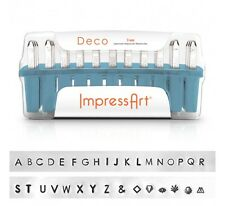 ImpressArt Deco Uppercase 3mm Stamp Set Jewelry Stamping Hand Stamping Set
