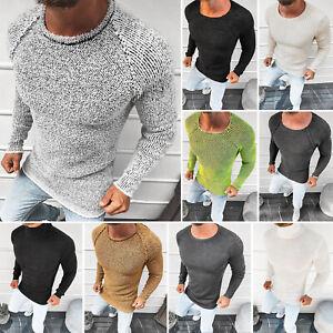 Pullover Sweater Strickjacke Strickpullover Feinstrick Pulli Herren OZONEE 14891