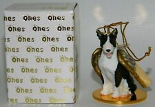 "Bull Terrier Dog Brindle Figurine Ornament Angel 2"" Miniature Figure Tiny Ones"