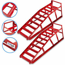 NEW 2 TON PORTABLE CAR VAN 4X4 MECHANIC WORKSHOP GARAGE WIDE RAMP RAMPS PAIR