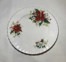 "Royal Albert Poinsettia Christmas Pattern 8 1/8"" Salad Plate(s) England"
