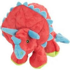 Sherpa Go Dog Squeaker RED TRICERATOPS w/ Chew Guard DOG TOY LARGE