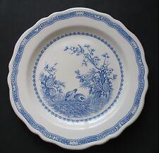 "Furnivals QUAIL Blue Chop Plate Round Serving Platter - 12.25"" Round Stamp"