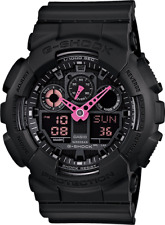 Casio G Shock GA100C-1A4 Pink Analog & Digital with Black Resin Band Watch