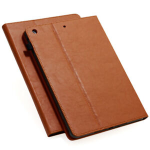 Echt Leder Schutzhülle für Apple iPad Mini 4 Tablet Tasche Cover Case braun