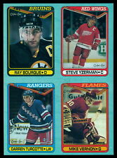 1990 OPC RAY BOURQUE STEVE YZERMAN MIKE VERNON BOX BOTTOM 4 CARD UNCUT PANEL
