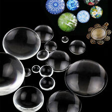 Clear 100 Transparent Crystal Round Flat Back Glass Cabochon Scrapbooking 8-58mm