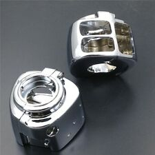 For Harley Sportster Dyna Softail V-Rod 2002-2010 CHROME Switch Housing Cover
