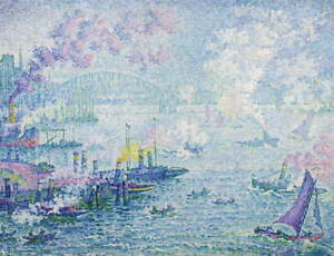 Paul Signac The Port of Rotterdam Giclee Art Paper Print Poster Reproduction
