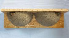 Mehlschwalbennest,Schwalbennest aus Holzbeton, Doppelnest, Vogelhaus, Nistkasten