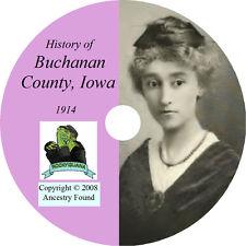1914 BUCHANAN County Iowa IA, - History & Genealogy -  Independance CD DVD