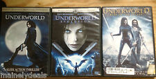 Underworld DVD Lot Of 3! Evolution/ Rise Of The Lycans! Tested! Works!
