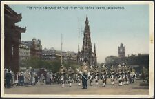 AX2602 Scotland - Edinburgh - The Pipes e-drums of the Royal Scots - Postcard