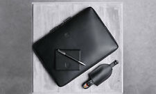 NEW Porsche Driver's Selection Laptop iPad Case Sleeve In Leather Black
