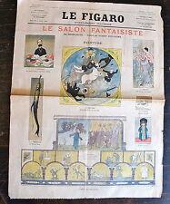 LE FIGARO, Supplement illustré, 12 mai 1894. Le salon fantaisiste par Grosclaude