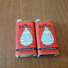 KANO  KROIL PENETRATING OIL 8 OZ CAN 1/2 PINT-THE BEST GUN OIL 2 CAN