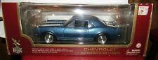 Road Legends 1967 Chevrolet Camaro Z-28 Diecast Model Replica Car Blue Metallic