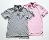 Lot of 2 Polo Ralph Lauren Short Sleeve Shirt Youth Size M Medium (10-12)