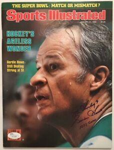 GORDIE HOWE Signed January 21, 1980 Sports Illustrated - NEWSSTAND - JSA