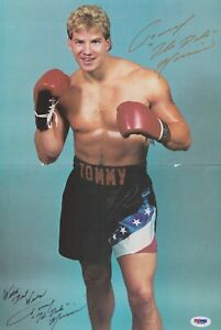 Tommy Morrison Signed Inscribed 11x17 Poster Auto with PSA/DNA Certification