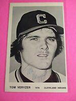 Tom Veryzer Cleveland Indians Signed AUTOGRAPH AUTO Photograph
