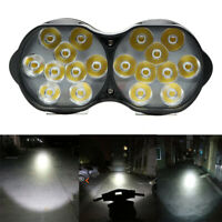 2 Mode Motorcycle Dual Headlight 18LED Driving 30W Twin White 12V Fog Light Lamp