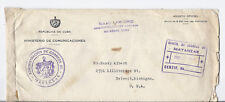 1942-1943 Penalty Mail Cover - Matanzas to Detroit, Michigan - W/ Contents!