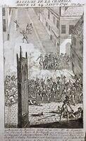 Massacre Porte de la Chapelle 1791 Paris Gravure Époque Révolution Française