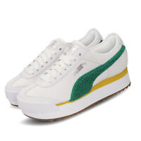 Puma Roma Amor Heritage Wns White Green Womens Platform Casual Shoes 370947-04