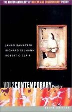 Norton Anthology Modern and Contemporary Poetry Vol. 2 by Jahan Ramazani (2003,